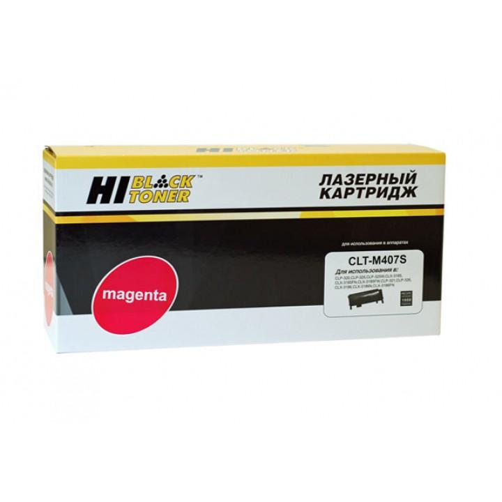 Тонер-картридж CLT-M407S для принтера Samsung CLP-320/320n/325/CLX-3185, M, 1K