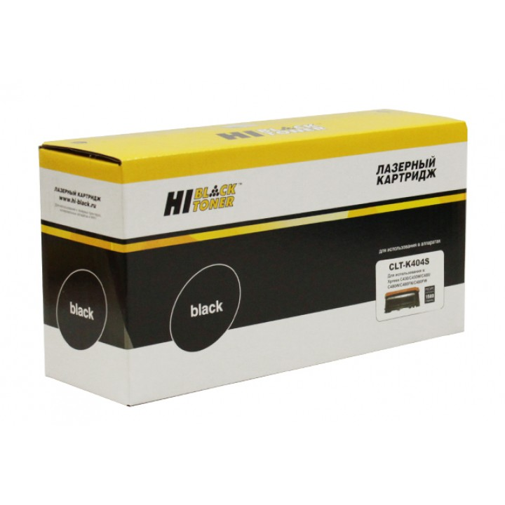 Тонер-картридж CLT-K404S для принтера Samsung Xpress C430/C430W/480/W/FN/FW, Bk, 1,5K