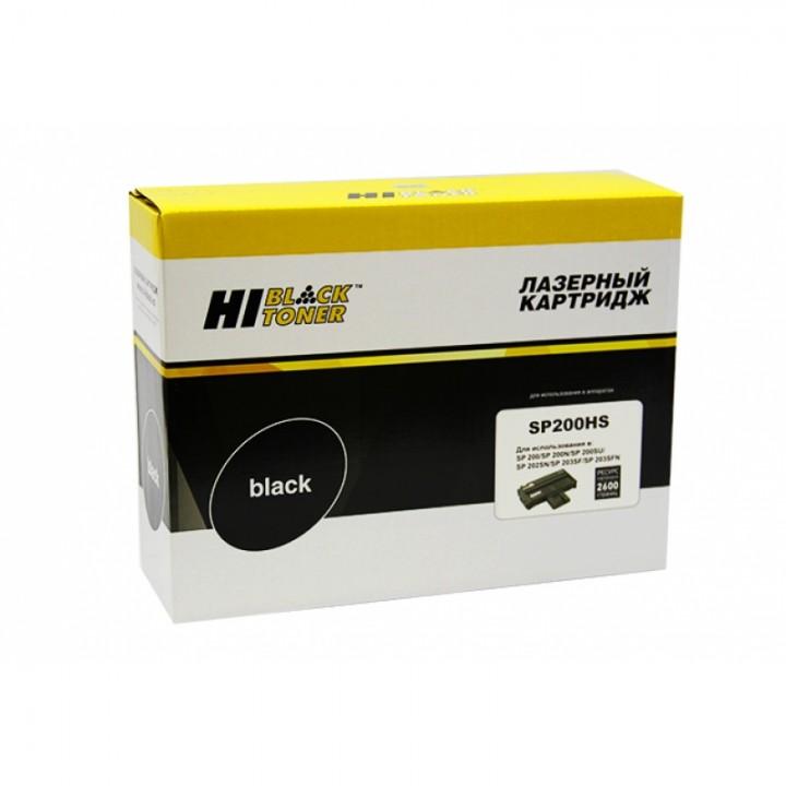 Картридж SP200HS для принтера Ricoh Aficio SP 200N/SP202SN/SP203SFN, 2,6K