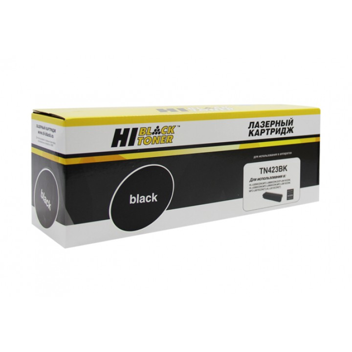 Тонер-картридж TN-423BK для принтера Brother HL-L8260CDW/8360/MFC L8690CDW, Bk, 6,5K